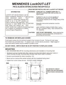 LockOUT-LET Wiring Instructions