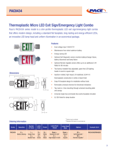 PAC0434 Thermoplastic Micro LED Exit Sign