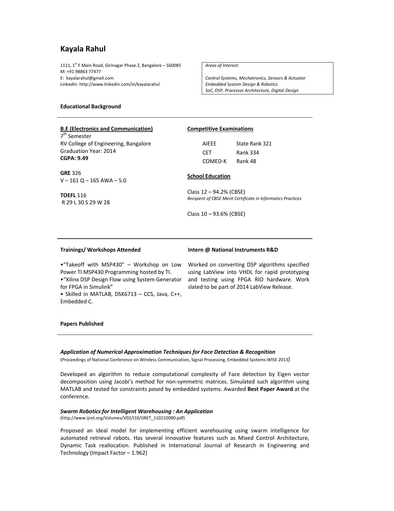 Resume - WordPress com