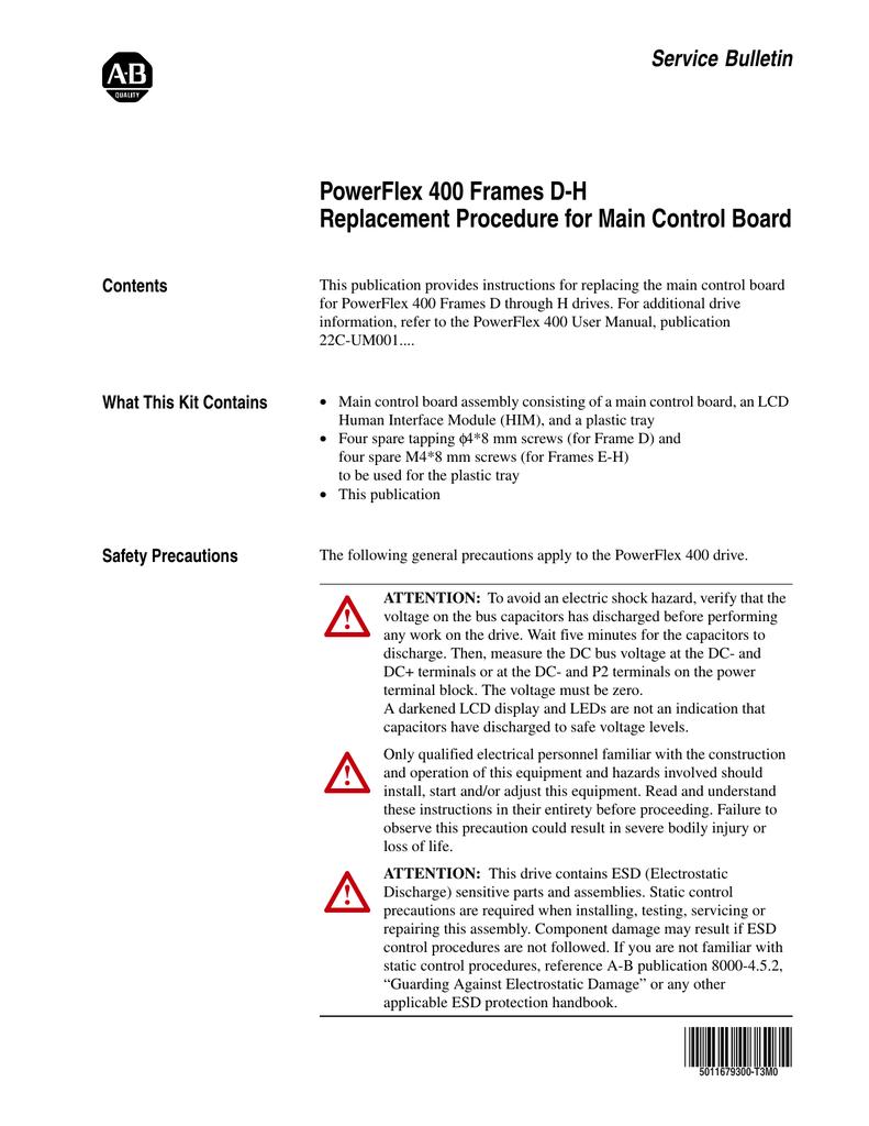 service bulletin powerflex 400 frames dh replacement procedure rh studylib net