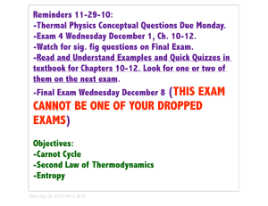 cannot be one of your dropped exams - Sierra College