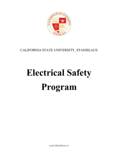 Electrical Safety Program - California State University Stanislaus
