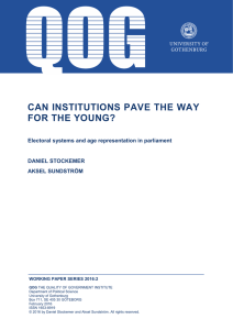 Can institutions pave the way for the young?