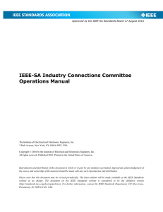 Industry Connections Committee Operations Manual