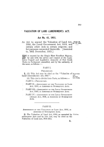 An Act to amend the Valuation of Land Act, 1916, the Local