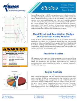 Feasibility Studies Energy Analysis Short Circuit and Coordination