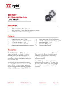13601DF 13 Gbps D Flip-Flop Data Sheet