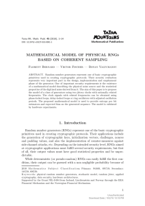 MATHEMATICAL MODEL OF PHYSICAL RNGS