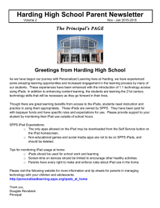 Harding High School Parent Newsletter Jan