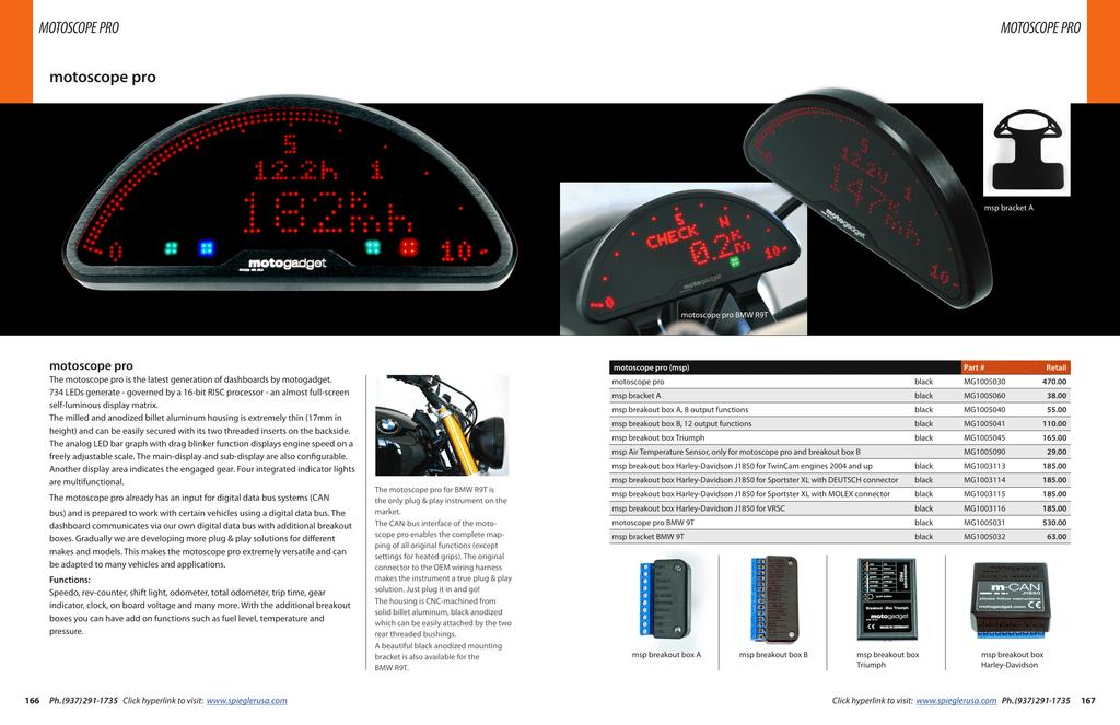 "Motogadget MG4002020 M-Switch 1/"" Handlebar Electric 2 Button"