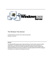 The Windows Time Service