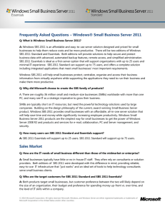 Frequently Asked Questions – Windows® Small Business