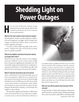 Shedding Light On Power Outages H