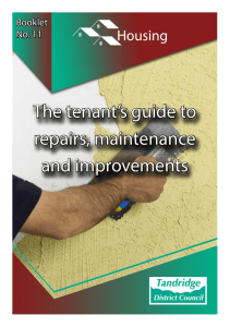 The tenant`s guide to repairs, maintenance and improvements