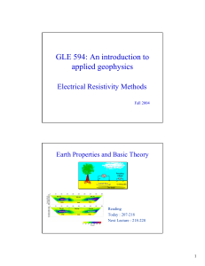 GLE 594: An introduction to applied geophysics