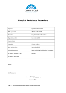 Hospital Avoidance Procedure
