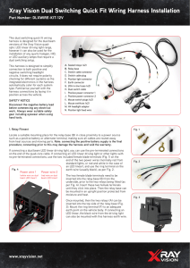 HEAD LIGHT WIRING Instructions for Club Car DS Models on