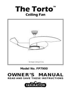 The Torto™ Ceiling Fan