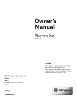 Owner`s Manual - BrandsMart USA