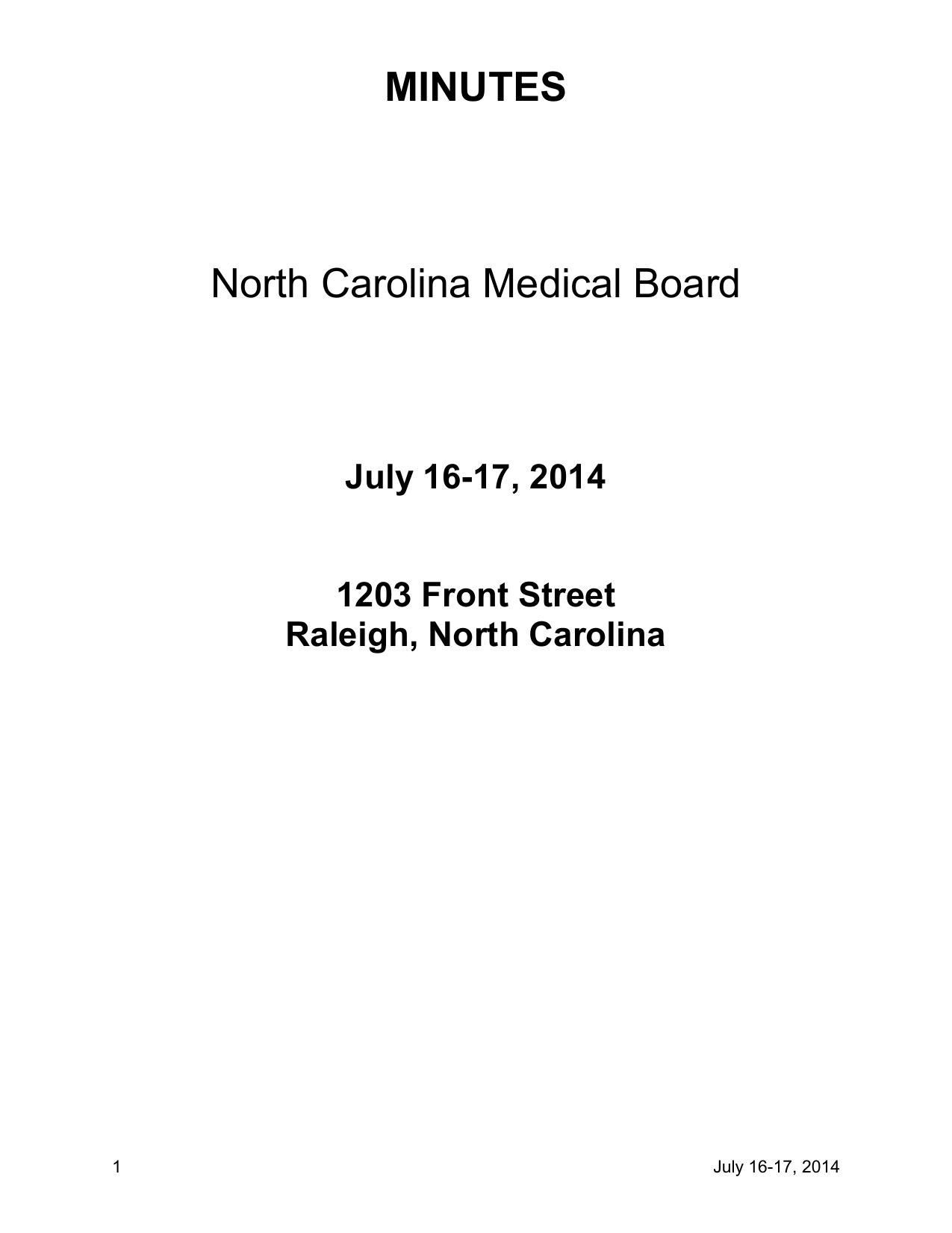 Minutes north carolina medical board 1betcityfo Images