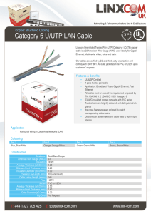 Category 6 U/UTP LAN Cable