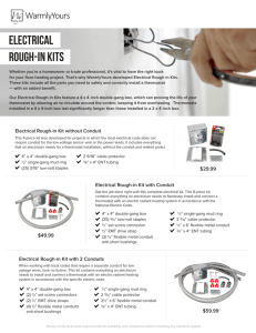 Electrical rough-in kits