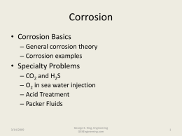 Corrosion Introduction - George E King Petroleum Engineering Oil