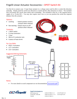 Firgelli Linear Actuator Accessories – DPDT Switch Kit