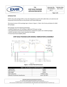 chip scale package application notes chip scale package