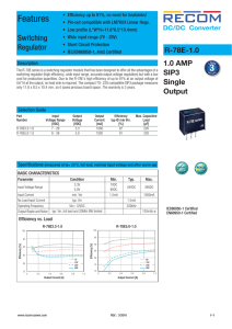 Datasheet - RECOM Power