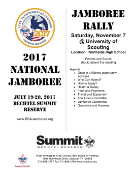2017 NATIONAL JAMBOREE JAMBOREE RALLY