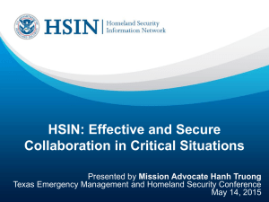 HSIN: Effective and Secure Collaboration in Critical Situations