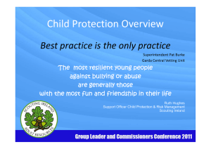 Child Protection Overview - www.scouts.ie