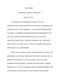 Dr. Gates Remarks at the 2014 BSA National Annual Meeting