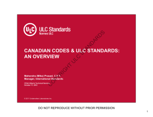 Canadian Codes and ULC Standards