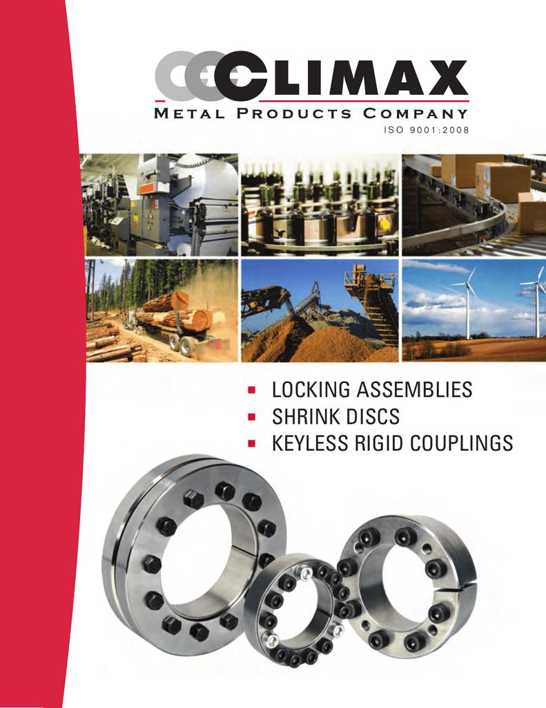 Steel Climax Metals C600M-40 Keyless Rigid Coupling 2.21 Width 1.57 ID 2.21 Width MAV s.P.a 1.57 ID 40 mm Shaft Diameter