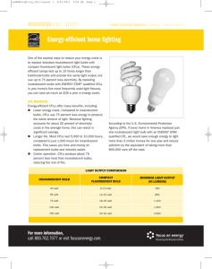 Energy-efficient home lighting