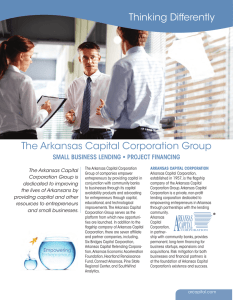 The Arkansas Capital Corporation Group Thinking Differently