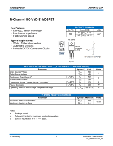 N-Channel 100-V (DS) MOSFET