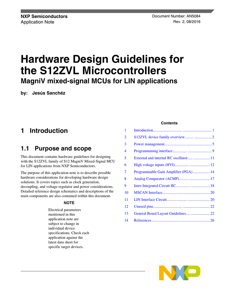 Hardware Design Guidelines For The S12zvl Microcontrollers Figure 2 Voltage Divider Setting Comparator Input