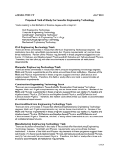Field of Study Curriculum: Engineering Technology