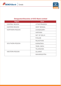 designated ICICI Bank Limited branch