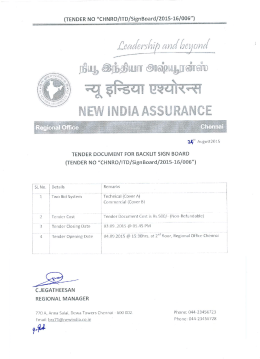 Conditions - The New India Assurance Co. Ltd.