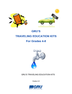 Traveling Education Kits for Grades 4-8