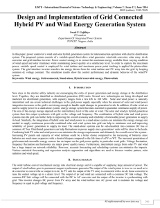 Design and Implementation of Grid Connected Hybrid PV and Wind