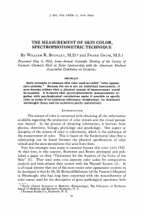 the measurement of skin color, spectrophotometric technique