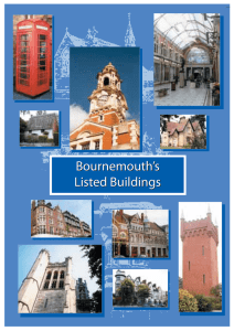 Bournemouth`s Listed Buildings Bournemouth`s Listed Buildings