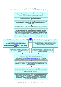 Referral Flow Chart for the South West London MSCC Service