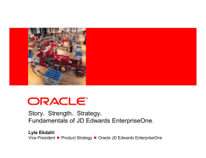 Story. Strength. Strategy. Fundamentals of JD Edwards