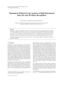 Topological Methods for the Analysis of High Dimensional Data Sets